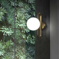 Nordic Led Bedside Wall Lights Creative Retro Brass Molecule Design Kitchen Foyer Study Room Decorative Wall Sconce Lighting