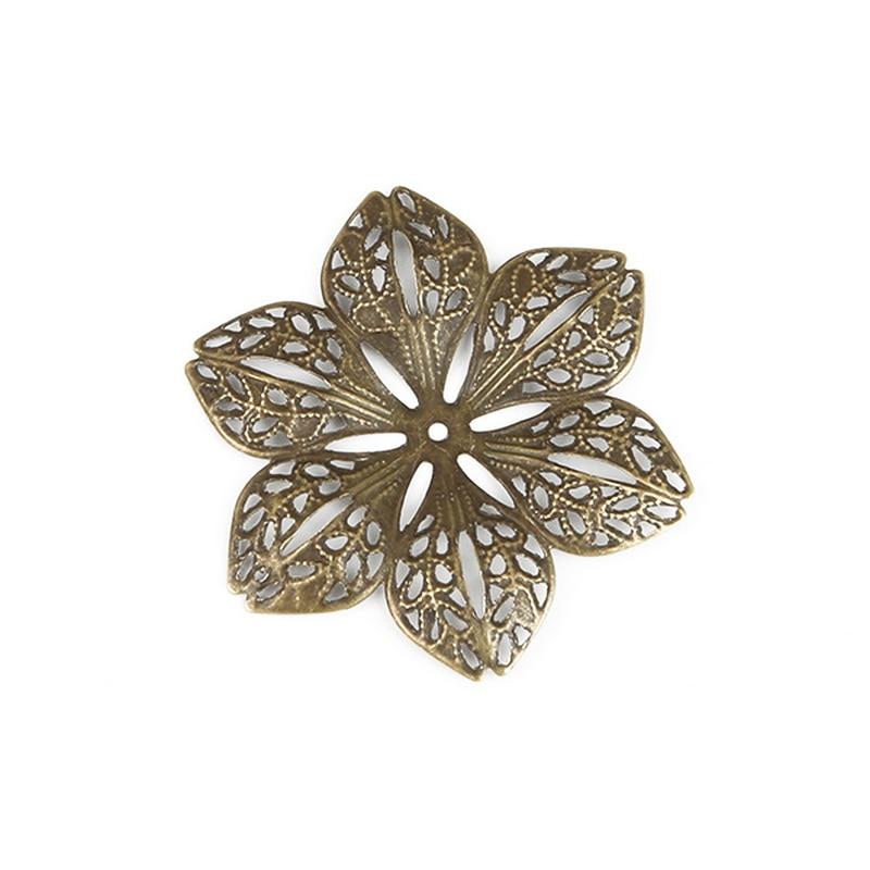 10 conectores en el diseño de flores en Antik bronce