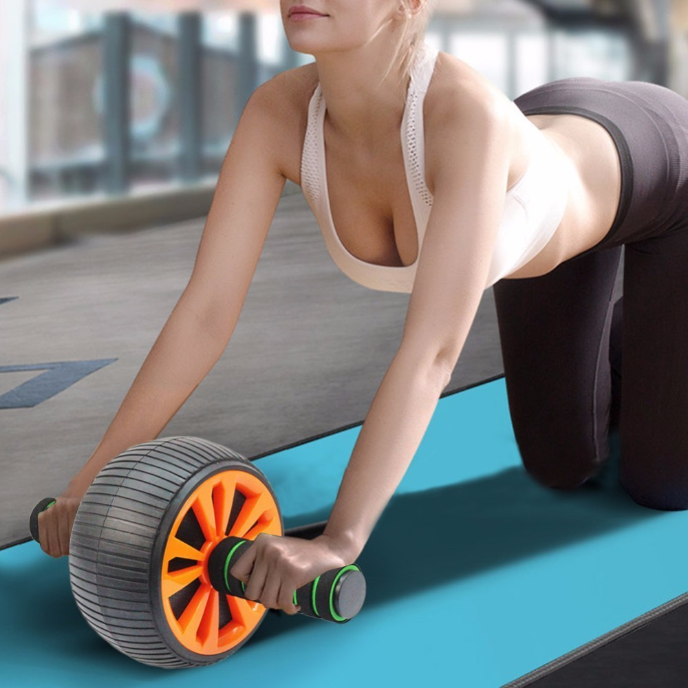 Non-Slip Abdominal Wheel Ab Roller Wide Stable For Exercise Fitness Exercise Home Gym Workout Equipment