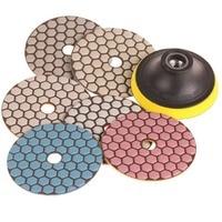 SPTA Mix Grit Premium Grade Dry 4 100mm Diamond Polishing Pads Set 5 8 11Thread For