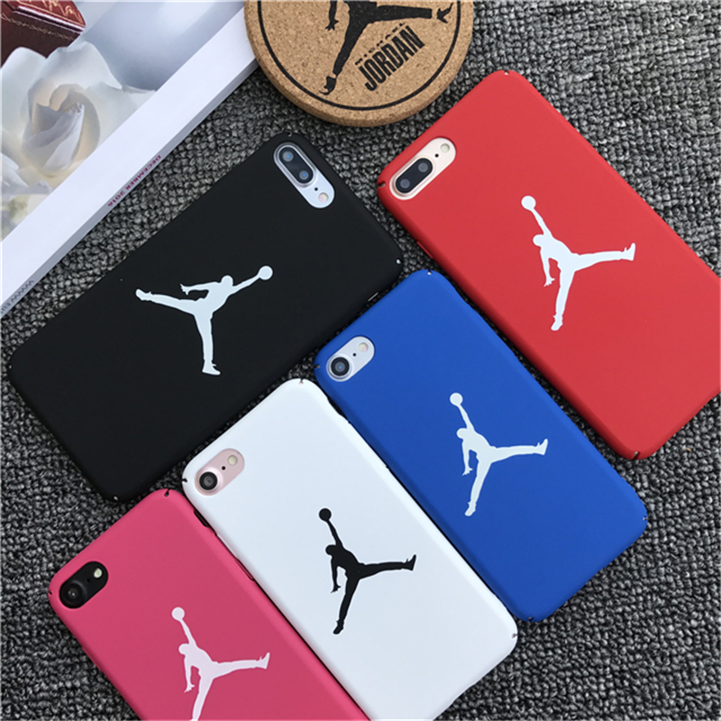 Basketball Fly man phone case for Apple 7 8 phone shell couple for iPhone6s tide brand Jordan PC hard shell all-inclusive matte