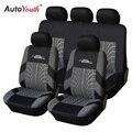 Autoyouth marca bordados tampas de assento do carro conjunto universal caber a maioria dos carros abrange com detalhe da trilha do pneu protetor de assento de carro styling