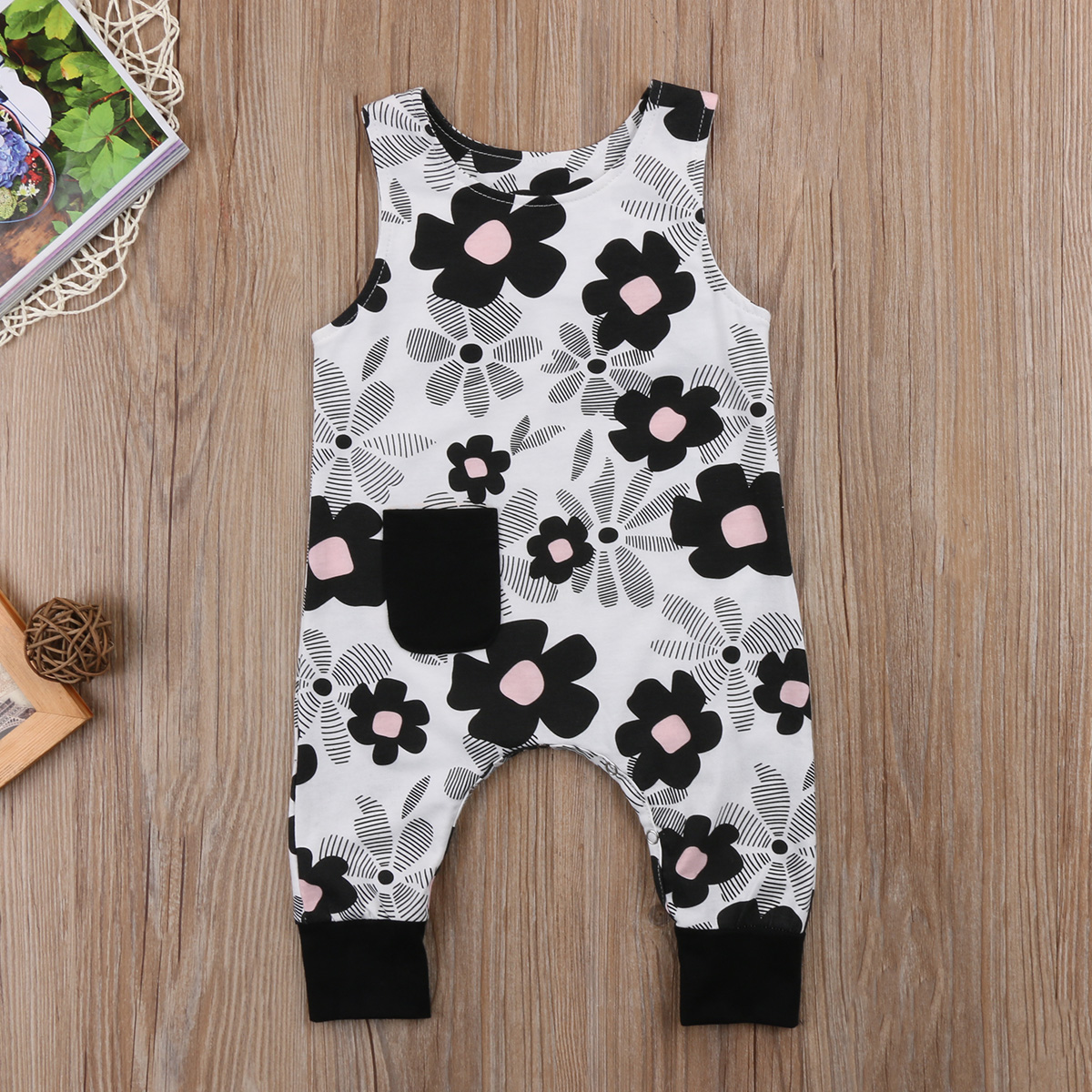 Baby Kids Girl Infant Clothes Floral Romper Jumpsuit Playsuit Outfits 0-18M