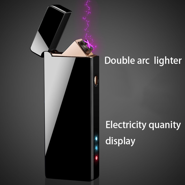 Lighter USB Electronic Plasma Cigarette Lighter For Smoking Electronic Lighter engrave name