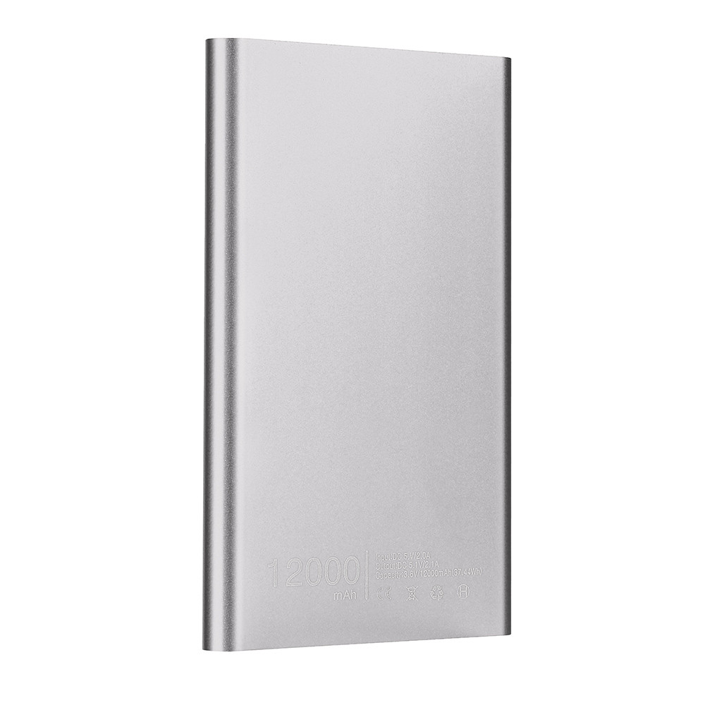 New Ultrathin 12000 mAh Power Bank Portable USB <font><b>Battery</b></font> <font><b>Charger</b></font> For Iphone Smart <font><b>Cell</b></font> <font><b>Phones</b></font> Includes a charging cable