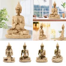 Sitting Buddha Sculpture Resin Furnishing Articles Natural Sandstone Craft Creative Home Decor