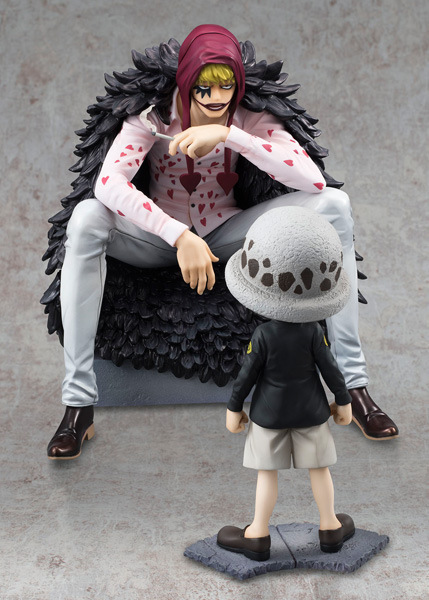 Anime One Piece Corazon & Law P.O.P Limited Edition PVC Action Figure Collectible Model Toy 12-16cm KT3921 anime one piece pop limited edition princess shirahoshi pvc action figure collectible model toy 28cm kt2369