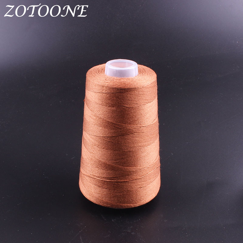ZOTOONE Brown Color Sewing Thread Polyester Hand Quilting DIY Accessories Supplies Embroidery For Home E