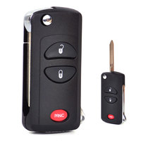 2 1 Button Folding Flip Remote Key Keyless Shell Case FOB For Chrysler Town Country Voyager