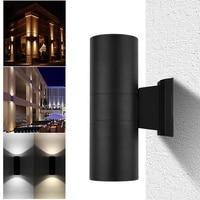Waterproof Porch Light 6W Up Down Dual Head COB LED Bar Light Cylinder Lamp Wall Mount