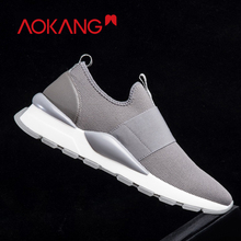 AOKANG 2019 Spring Casual Shoes Men Breathable Air Mesh Sneakers High Quality Hook Loop Shoes Tenis Masculino Shoes