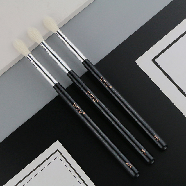 BEILI X06/X04/X08 Black Eye Shadow Tampered blending brush Natural white Goat Hair Makeup Brushes box packing single eye brushes 2