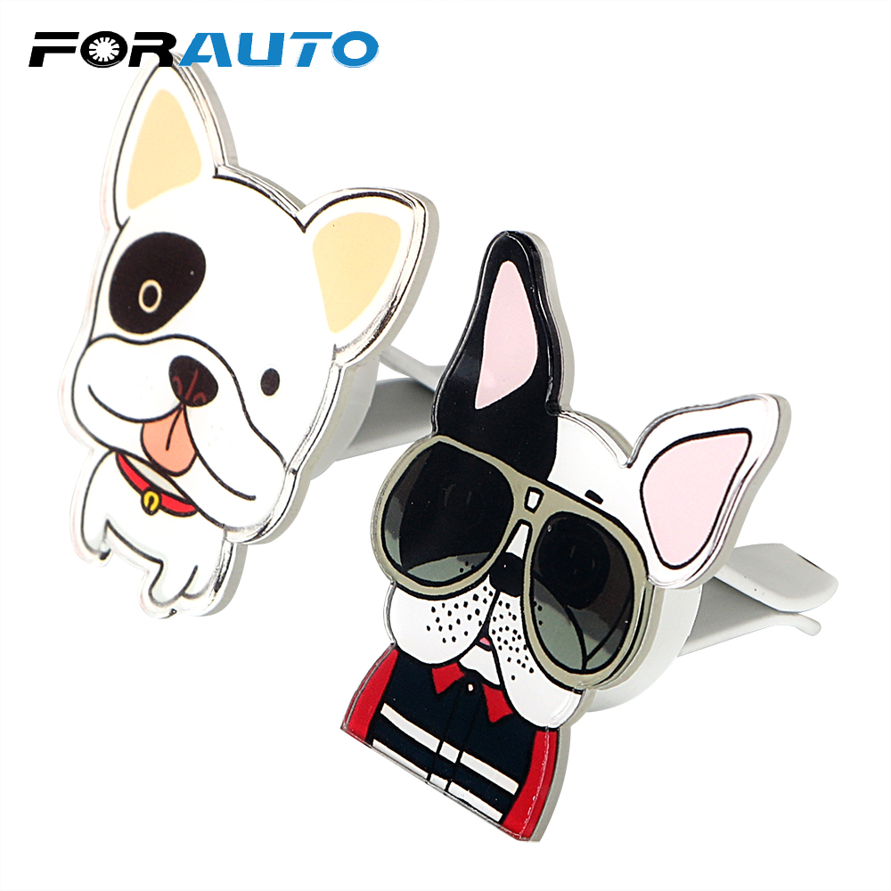 FORAUTO Air Freshener Car Air Vent Perfume Cute Dogs Shape Funny Solid Fragrance Car-styling
