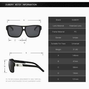 Солнцезащитные очки DUBERY для мужчин и женщин, поляризационные очки для вождения автомобиля, спортивные очки для рыбалки, роскошные брендовые дизайнерские очки UV400