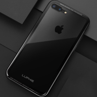 Original Luphie Aluminum Metal Frame 9H Transparent Tempered Glass Case Back Cover For Apple Iphone 7