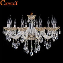 2016 Modern Candle K9 Crystal Chandeliers Light Fixture Luxury Lamp For Living Room candelabro de cristal AC110~240V