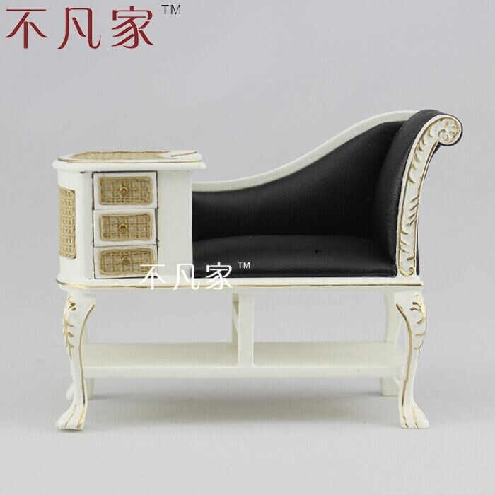 Maison de poupée 1 : 12 échelle Fine offre spéciale mobilier miniature blanc classique chaise