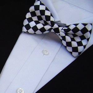 2018 fashion mens striped print butterfly pattern bow tie knot