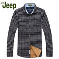 2016 HOT latest AFS JEEP / Battlefield Jeep autumn classic fashion long-sleeved shirt men's business casual plaid shirt 100