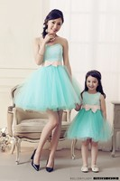 Mother Daughter Dresses Lace Princess Family Look Birthday Party Wedding Dress Mommy And Me Clothes Family Matching Clothes