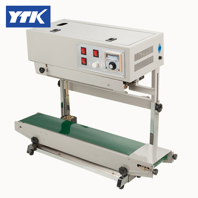 YTK FR900 Vertical Plastic Film Sealing Packing Machine+Date Printing+Seal Belt