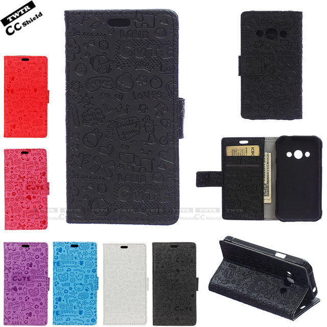 Flip Case for Samsung Galaxy Xcover 3 Xcover3 Case Phone Leather Cover for Samsung SM-G388F SM-G389F G388F G389F wallet soft bag