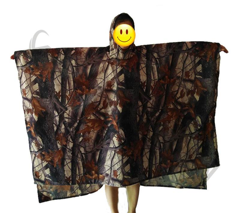 10pcs 3in1 Outdoor Military Camouflage Rain coat Poncho Backpack Rain wear Cover Waterproof Tent mat Hunting Camping Picnic mat in Outdoor Tools from Sports Entertainment