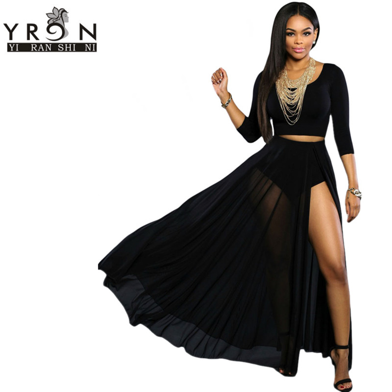 High Waisted Sheer Skirt - Dress Ala