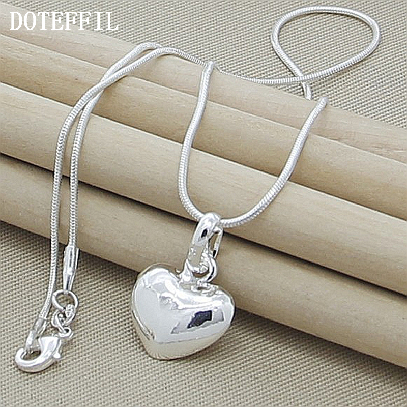 Grosir 925 Sterling Silver Kalung Fashion Perhiasan Jantung Liontin - Perhiasan fashion - Foto 1