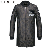 SEMIR Jacket for men man jackets overcoat Stand collar streetwear clothes spring camouflage fashion clothing outwear coat