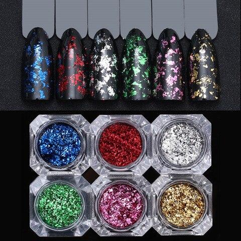 Chameleon Chrome Flakes for Nails Yuki Sequins for Nail Flakes AB Color Nails Art Mirror Chrome Spangles for Nail Glitter Pakistan