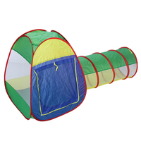 Cubby Tube Teepee 3pc Pop Up Play Tent Children Tunnel Kids Adventure House Toy