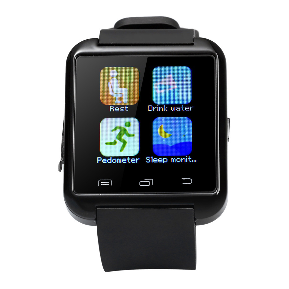 Original U8S Outdoor Sports Bluetooth 3.0 Smart Watch with Camera Music Remote P