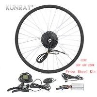 KUNRAY Электрический велосипед Conversion Kit 250 Вт 36 В 48 В безщеточный концентратор мотор шестерни для дорожного MTB велосипеда спереди колеса Ebike ком