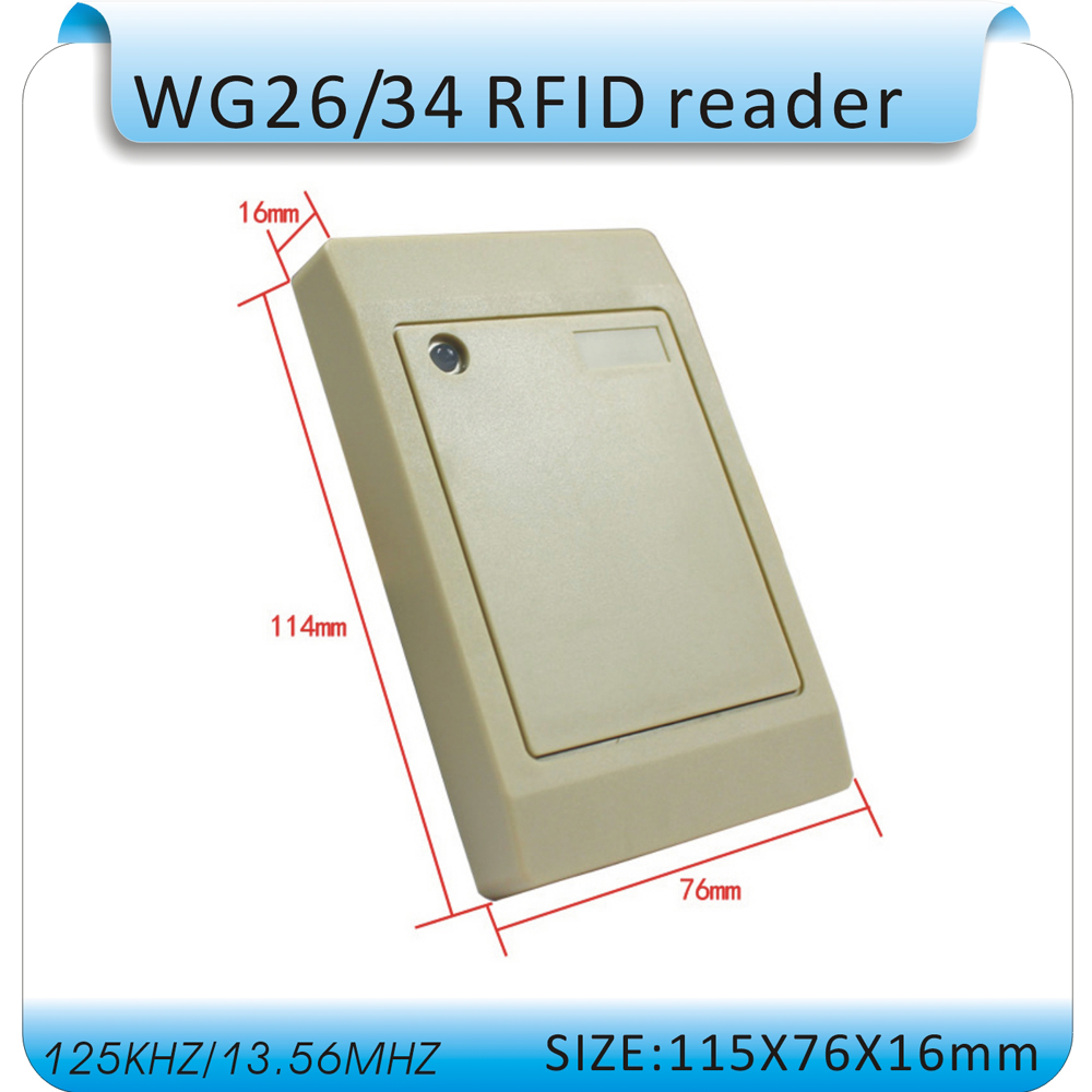 Rfid Reader For Access Control Systems 125KHZ EM ID Card WG26 Reader Waterproof keypad access control waterproof for home security wg26 34 em id card reader 125khz door access control system with keypad for rfid card waterproof f1710a