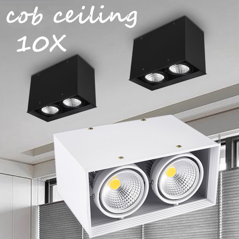 10pcs/lot Wholesale Super15w/2*15w/3*15w Square Recessed Cob Led Bean Pot Lamp With Led Drivercob Led Grille Down Lamp Ac85-265v With A Long Standing Reputation Led Lighting Lights & Lighting