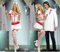 2016 New Hot Split Type Nurse Uniform Enticement Fantasy Women Sexy Nurse Costume Hollow Out Sexy Lingerie
