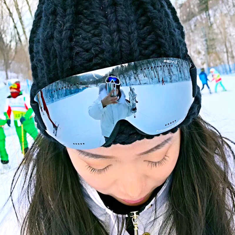 96407e3b4c1 Men Women HD Ski Goggles UV400 Anti-Fog Ski Eyewear Winter Windproof  Snowboard Glasses Skiing