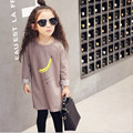 Roupas infantis menina Girls long t-shirt Banana print Cotton long sleeve kids t shirts tees Fashionable All match lengthen tops