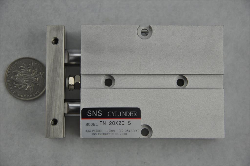 SNS TN20 * 20-S M5with magnetic reed Airtac type  twin rod  guide dual shaft acting guide  air pneumatic cylinder su63 100 s airtac air cylinder pneumatic component air tools su series