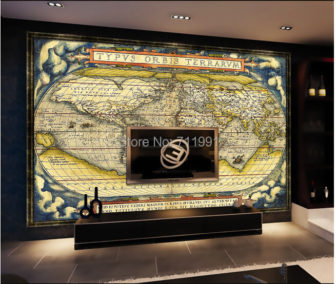 Compare prices on map materials online shopping buy low for Custom mural cost