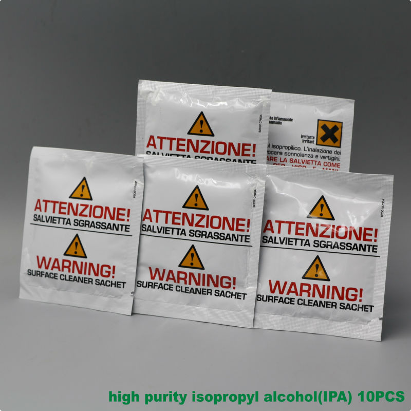 VOLKSTEC IPA High Purity Isopropyl Alcohol 10PCS Cleaning Fiber Free Shipping