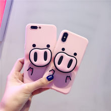 For iPhone XR Xs MAX Case With Popular 3D Pig Holder For iPhone X 7 8 Plus 6 6s Cover Pig Nose Pink Ring Multifunction Stand(China)