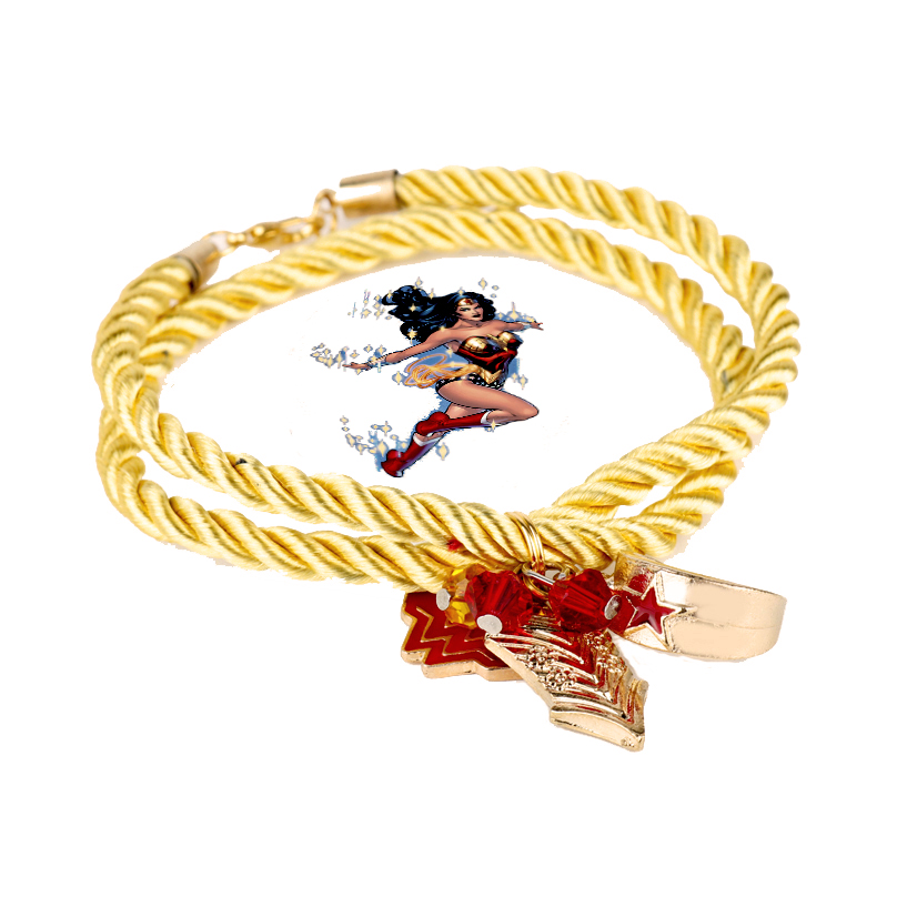 Оптовая супергероя Wonder Woman Корона Браслеты фильм ювелирные изделия Металл открытие Браслеты и Браслеты партии Косплэй браслет