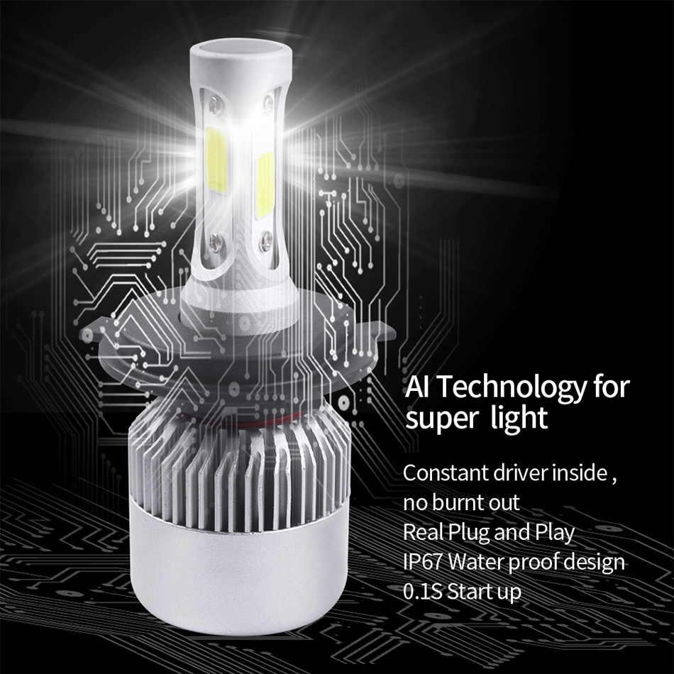 YAMYFF H4 LED H7 H1 LED Car Headlight H11 H27 880 H3 9005 9006 9004 9007 H13 6500K 9000LM Auto Headlamp Car Fog Lamp Bulbs 12V
