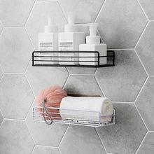 2019 New White Black Stainless Steel Shower Caddy Bathroom Wall Storage Rack Shelf Organiser Basket стоимость