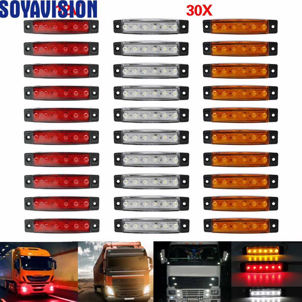 Lorries Light-Truck Pickup Trailer Side-Marker-Indicators Bus-Clearance White Yellow