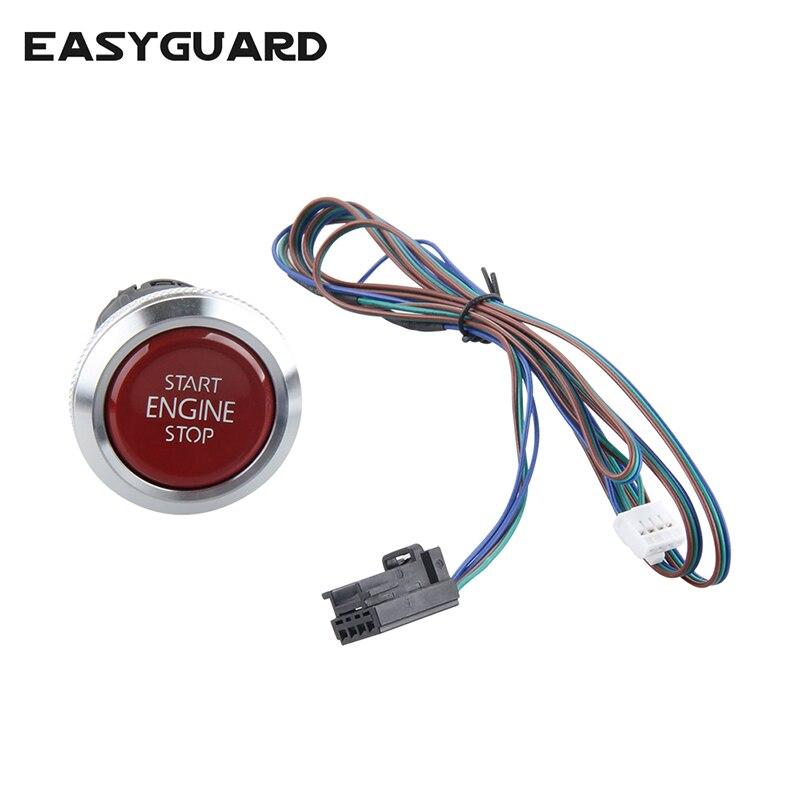 EASYGUARD Replacement Push Engine Start Stop Button For Ec002 Es002 Ec008 Series P4 Style