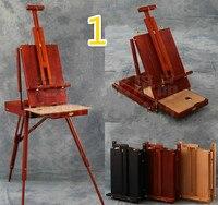 Переносная живопись рамки складной деревянной живописи мольберт книги по искусству toolbox Регулируемый Деревянный ст
