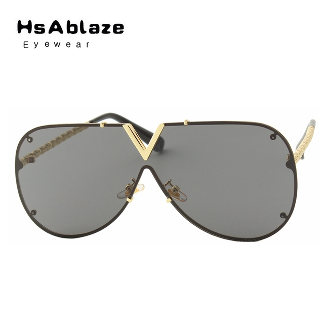 bb6cb75468 HsAblaze Eyewear Women Brand Designer Men Luxury Mirror Sunglass V Oversize  Clear Female Sun Glass Eyeglass Female oculos de sol